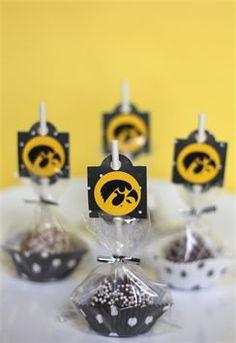 Iowa Hawkeye Cake Pops!
