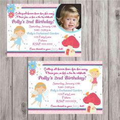 Digital Fairy Garden Tea Party Birthday Invitation by spencervillejunction, $10.00