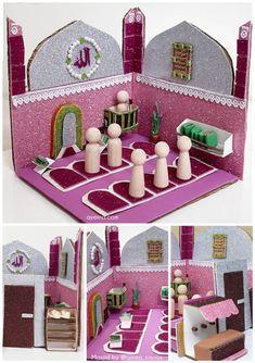 Ramadan Activities, Ramadan Crafts, Ramadan Decorations, Toddler Activities, Islamic Gifts, Islamic Dua, Diy For Kids, Crafts For Kids, Activity Box