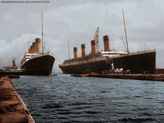 RMS Olympic and RMS Titanic by hmhsbritannic.deviantart.com on @deviantART