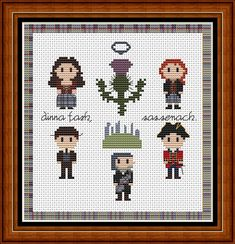 Outlander Cross Stitch Medium Sampler Pattern by HouseElfStitchery