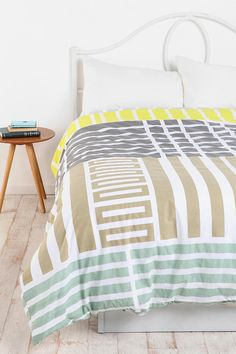 Assembly Home Labyrinth Duvet Cover - cute neutral colors and gender neutral #UrbanOutfitters
