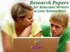 Help! My Reluctant Writer Can't Do a Homeschool Research Paper! - 7sistershomeschool.com