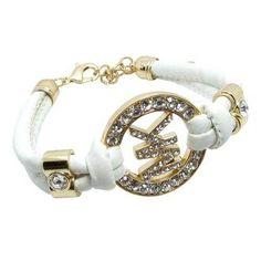1f84302fe213 Michael Kors Rhinestone Logo White Accessories Outlet -  19.99 Fashion  Bags