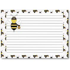 Bumble Bee Recipe Card