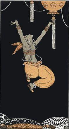 Illustration by George Barbier, 1913, Nijinski in Shéhérazade, Ballets russes.