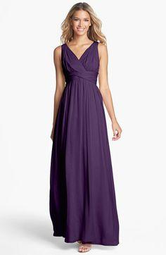 Cyndi?  I even like the amethyst!  Donna Morgan 'Julie' Twist-Waist Silk Chiffon Gown | Nordstrom