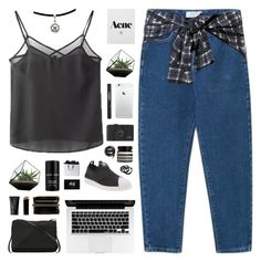 """Krystal"" by daniaindria ❤ liked on Polyvore featuring Rick Owens, adidas, Lalique, H&M, Aesop, Urbanears, Comme des Garçons, NARS Cosmetics, Chanel and GAS Jeans"