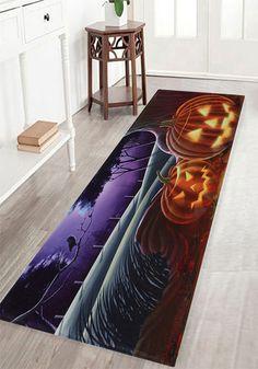 halloween decor ideas:Pumpkin Halloween Pattern Indoor Outdoor Area Rug