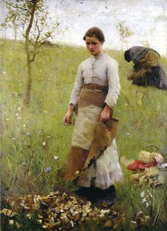 'The Stone Pickers' by Sir George Clausen; Laing Art Gallery, Newcastle upon Tyne I got acquainted with the English painter Geor. Figure Painting, Painting & Drawing, Moritz Von Schwind, Figurative Kunst, English Artists, Art Uk, Gravure, Beautiful Paintings, Artist At Work