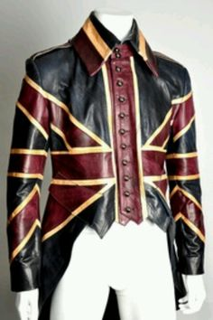 Freakin cool British flag waist coat