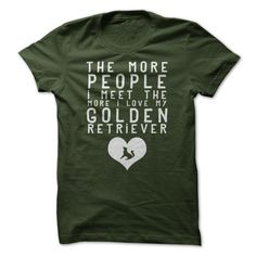 $19 - I Love My Golden Retriever. Click the image to get your tee and wear it proudly!
