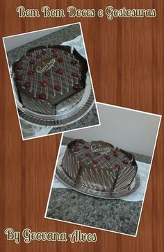 Bolo de chocolate recheado de brigadeiro e mousse de maracuja