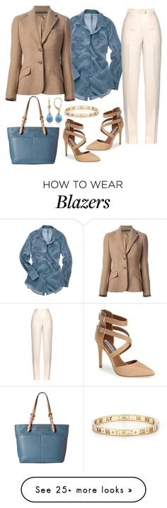 """""""Untitled #456"""" by gallant81 on Polyvore featuring Madewell, Ralph Lauren Blue Label, Jil Sander, Michael Kors, Steve Madden, Maison Boinet, Tiffany & Co. and Belk & Co."""