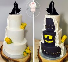 Batman wedding cake - Batman Wedding - Ideas of Batman Wedding - Batman wedding cake Geek Wedding, Lesbian Wedding, Wedding Ideas, Wedding Stuff, Wedding Goals, Wedding Planning, Batman Wedding Cakes, Batman Cakes, Lego Cake