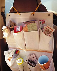 Shoe-Bag Organizer - Martha Stewart Crafts Great for road trips with kids!
