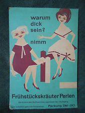 DDR Reklame-Schild 50/60er Jahre Drogerie - Heilpunkt Frühstückskräuter-Perlen
