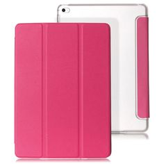 Mr.northjoe Protective PU Leather Case Cover Stand w/ Auto Sleep for IPAD AIR 2 - Deep Pink