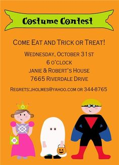 Halloween Kids Invitations #costume #children #child #kids #cute #trickortreat #halloween #fall #autumn #party #event #invite #invitation #invitationbox #design #interesting #pinterest #scary #spooky