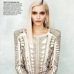 Vogue January 2012 Norman Jean Roy  With Oliphant backdrop