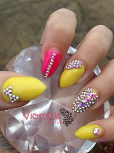 Summer Bling #nail #nailart