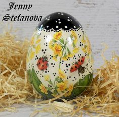 Decoupage by Jenny Stefanova Decoupage, Christmas Bulbs, Eggs, Easter, Holiday Decor, Home Decor, Decoration Home, Christmas Light Bulbs, Room Decor