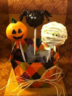Samain:  #Halloween #Cake #Pops, for #Samain.