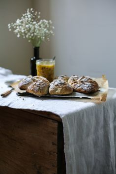 Lemon Poppyseed Scones with Passionfruit Curd