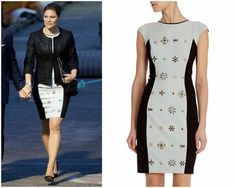 Crown Princess Victoria in Karen Millen Dress