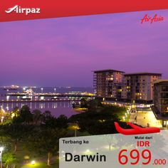 Terbang dari #Bali ke #Darwin cuma 600ribuan dengan pesawat #AirAsia di #Airpaz Kapan lagi? Booking sekarang : http://ow.ly/NNy2R  #TiketPesawat #TiketMurah #Promo #Travel #Backpacker #Indonesia #Australia #Backpacking #Liburan #JalanJalan #Traveling #Holiday #Vacation #Trip #Penerbangan