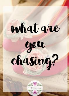What are you chasing? Do you know what you are chasing,? Do you know why you are chasing? Do you have the chasing thing down? Have you figured it out yet, that something you are chasing, is it about money, power, fame, self. You see, again it's all about how you feel, the emotions you…