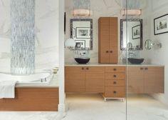 imagenes banos modernos amplio madera ideas