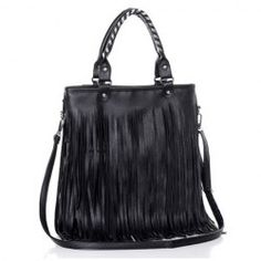 $15.22 Casual Women's Tote Bag With Black and Tassels Design - sammydress.com