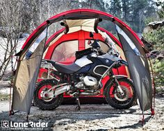 Shelter for you and your bike while out on your next adventure.  Packs down incredibly small and unbelievably light!