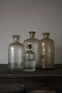 recycled old bottles; vintage beauty                                                                                                                                                      More