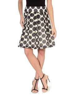 High Waist Inverted Pleat Skirt from The Limited! Gotta love pleats and polka-dots!