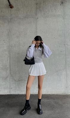 Aesthetic Fashion, Look Fashion, Aesthetic Clothes, Korean Fashion, Womens Fashion, High Fashion, Cute Casual Outfits, Fall Outfits, Summer Outfits