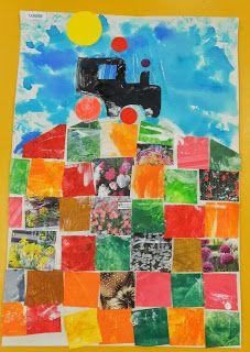 Les travaux de maternelle et autres niveaux...: LA FERME : autour de l'album Méli- mélo à la ferme de Martine Perrin, le tracteur
