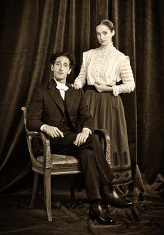 Harry and Bess Houdini - Adrien Brody and Kristen Connolly in Houdini (miniseries 2014).