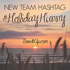 New team hashtag! #HolidayHunny