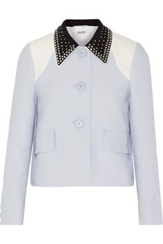 Sky-blue, black and white cady Button fastenings through front 100% viscose; lining: 100% polyester Dry clean Made in Italy
