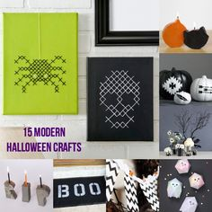 Do you love a modern, simple style? These 15 Halloween crafts are perfect for you - and so easy to make!
