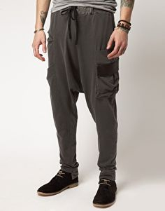 Drop crotch trousers by Delusion.