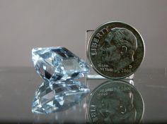 Blue Topaz Loose Gemstone. Rare Octogon Fancy by DanPickedMinerals, $130.00