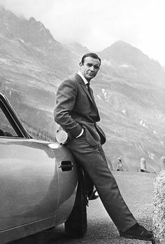 Sean Connery in a promotional picture for Goldfinger (1964)