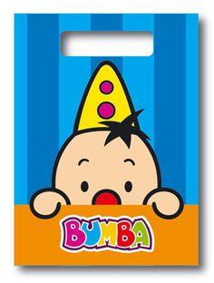 Bumba uitdeel-zakjes; leuk om een traktatie in uit te delen, aan het einde van een kinderfeest of als peuter/kleuter traktatie op school!