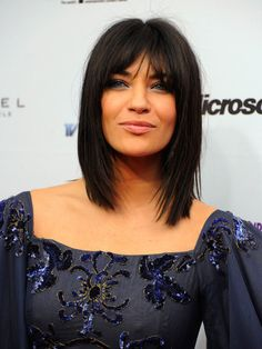Jessica Szohr Medium Straight Cut with Bangs
