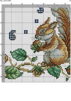 Squirrel Clock 6/8