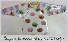 bavoir à manches anti-taches DIY / Long-sleeved baby bib