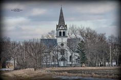 """""""South Viking Church"""" 8 inch by 12 inch photograph of a Magnificent country church on the North Dakota prairie. This one is located at rural Maddock, North Dakota."""